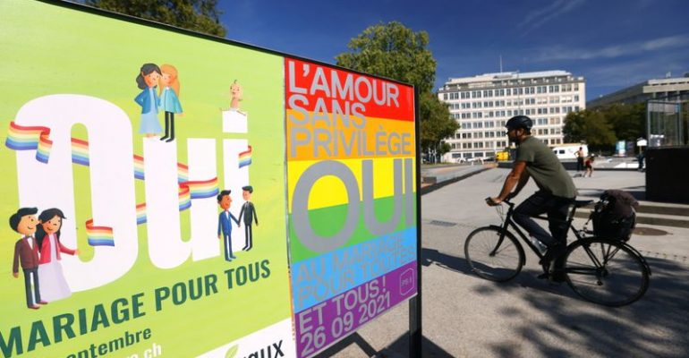 Switzerland votes to make same-sex marriage legal by near two-thirds majority
