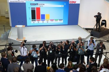 German CDU/CSU and SPD tied in national election – exit poll